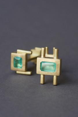 TUKOA-Manschetteknöpfe Gold&Smaragd.JPG