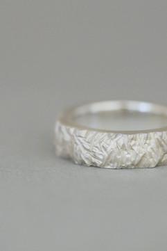 TUKOA-Männerschmuck-Ring Silber Organic
