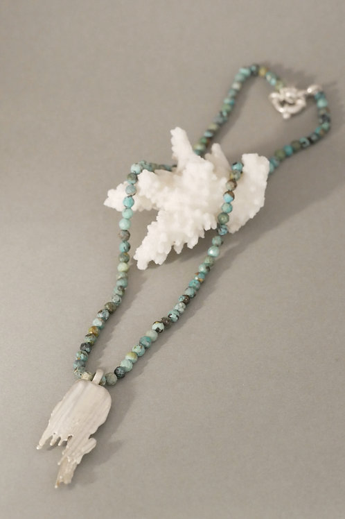 "Necklace ""Stalagmit"" with turquoise"