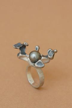 TUKOA-Coral Embrace-Ring Silber mit Tahi