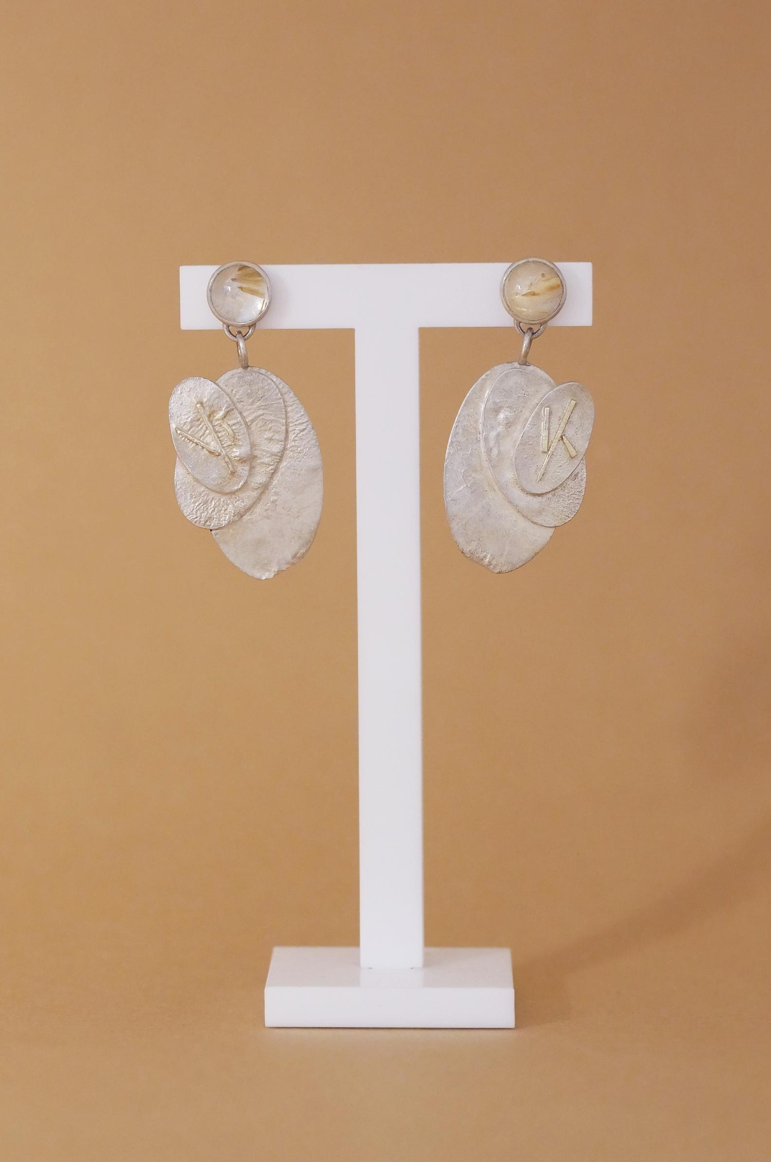 TUKOA-Ohrringe Silber mit Rutilquarz