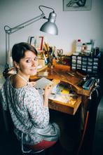Turquoise im Atelier ©Margarita Shut