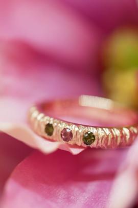 TUKOA-Verlobungsring D&T-Rotgold & Turma