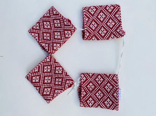 Set de 4 ronds de serviette