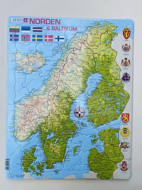 Puzzle carte scandinavie