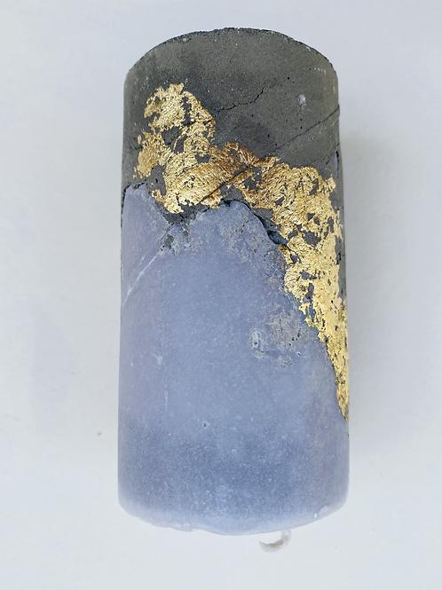 Bougie ciment dorée gris foncé
