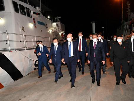 İçişleri Bakanımız Ege Denizi'nde Sahil Güvenlik Görevine İştirak Etti