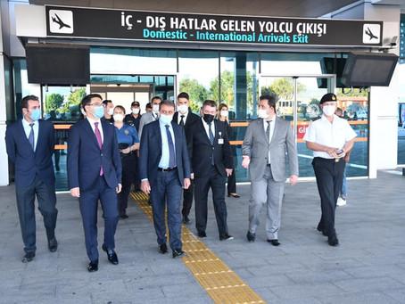 Vali Hasan Şıldak Kocaseyit Havalimanında