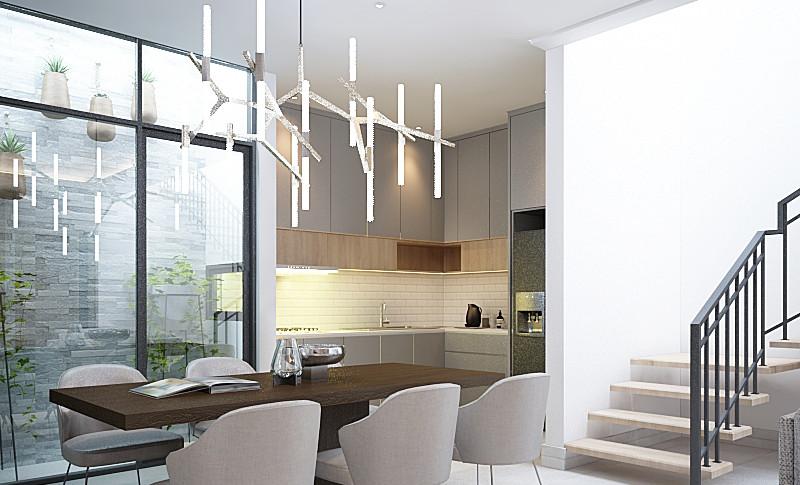 Ruang Makan + Dapur Lantai 1- Residence