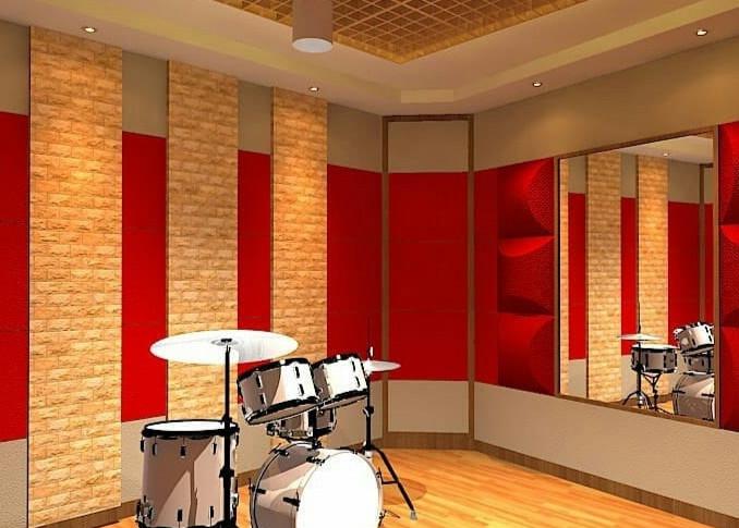 RK Studios - Konstruksi Studio Musik - Bagian Dalam