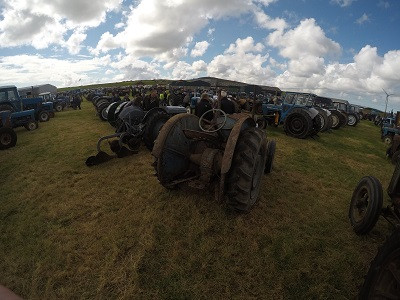 Just some of the tractors