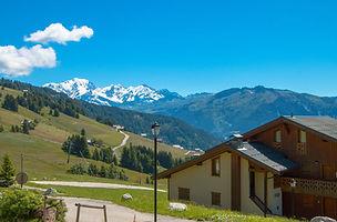 Bisanne 1500 vue Mont Blanc