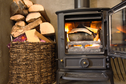Log Burning Fire