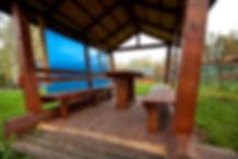 База отдыха Аквамарин Большая беседка с летней кухней