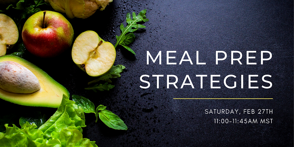 Coffee with Coach: Meal Prep Strategies - FREE