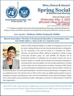 UN Association: May 4, 2016