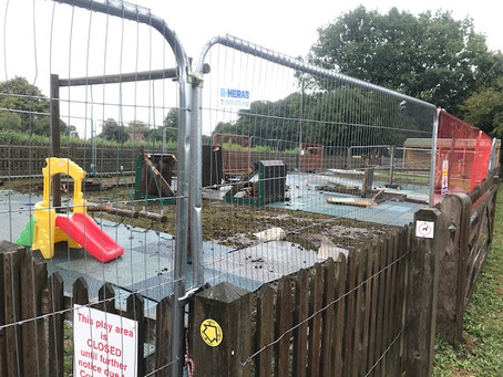Play Area works started today