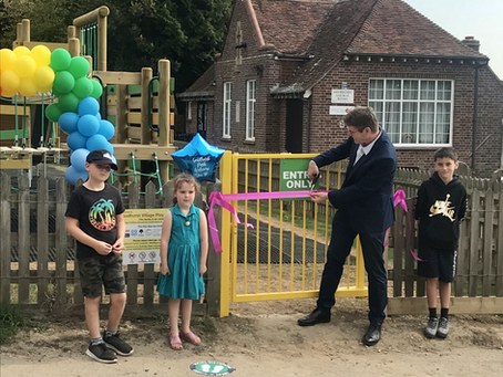 Goudhurst Play Area officially opened by the Rt Hon Greg Clark MP