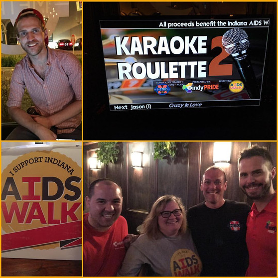 Indy Pride AIDS Walk Team Karaoke Roulette - Event Chair & Fundraising Lead