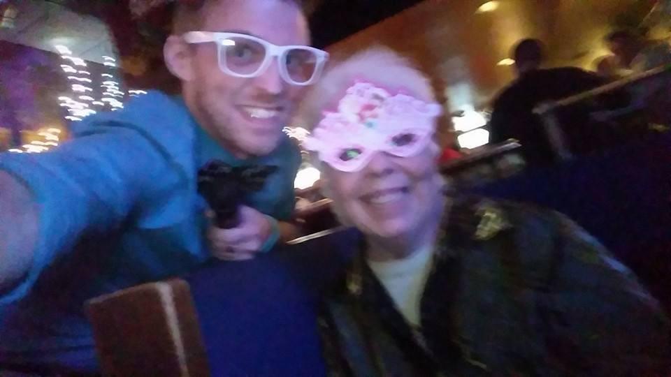 Hosting Karaoke - Pictured w_ Indianapolis Karaoke Legend, Aunt Susan