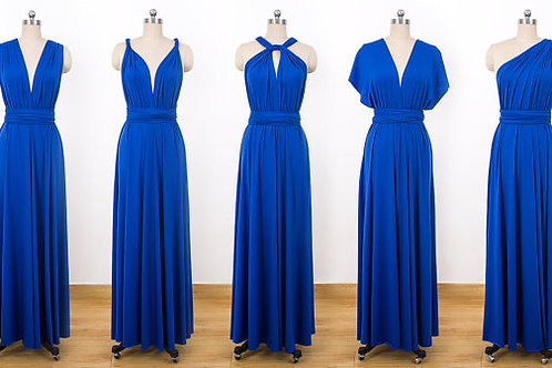 Vestido basico  Largo Azul Royal