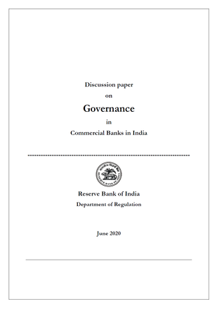 Comments on 'RBI's discussion paper on governance in commercial banks in India'