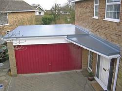 Fibreglass flat roof and porch