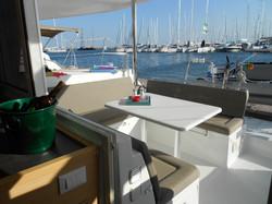 Christal Sailing   vue du catamaran
