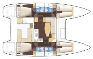 Christal Sailing | plan du catamaran