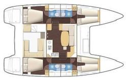 Christal Sailing   plan du catamaran