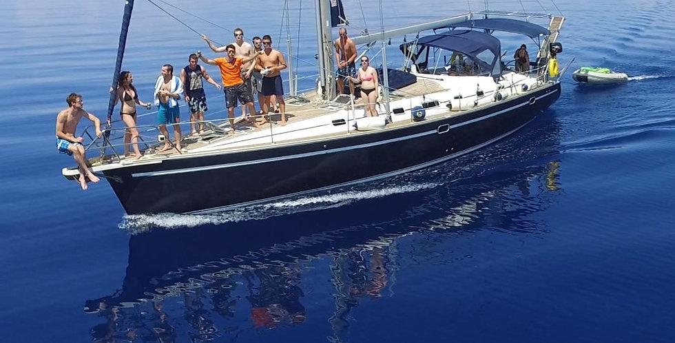 24/07-31/07  Prix pour gr. privé avec skipper