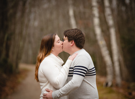 Ally & Chris' Super-Fun Wintery Engagement Photos | Vernon CT