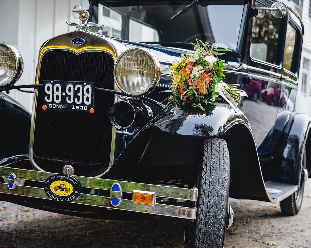 Classic Ford Model A at a wedding