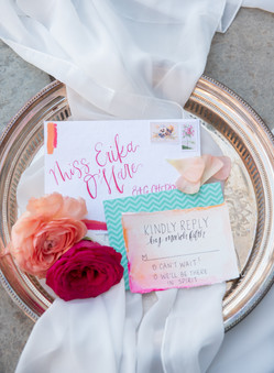 custom watercolor wedding invitations with calligraphy