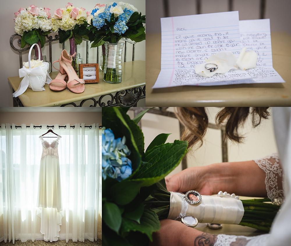 bridal details and wedding dress CT wedding photography