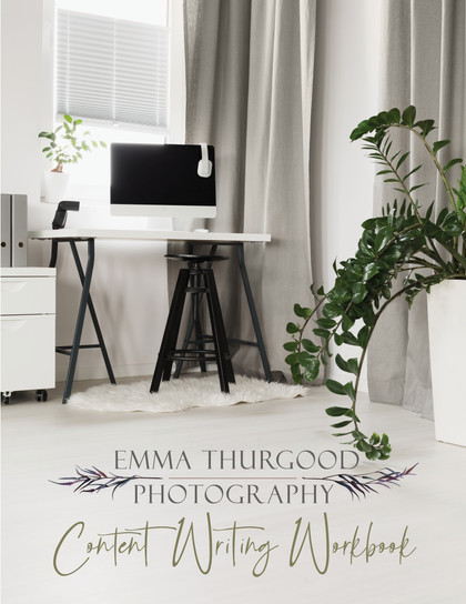 copywriting workbook for photographers