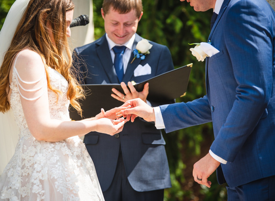 ring exchange at a wedding in Connecticut