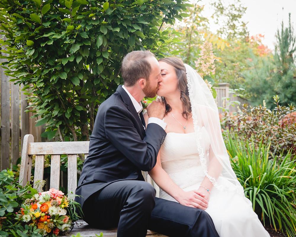 wedding couple at the Red Lion Inn in Stockbridge Massachusetts