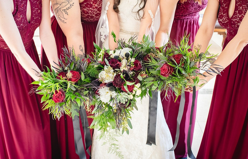 Wedding bouquets from Floral Designs by Justine a Wedding Florist in CT