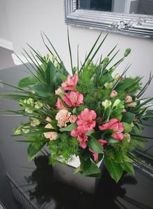 Flower centerpiece from Wedding Florist CT Floral designs by Justine