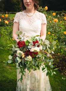 Incredible floral bouquet at Pond House Cafe wedding