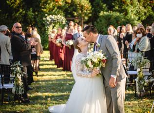 backyard garden wedding in Connecticut