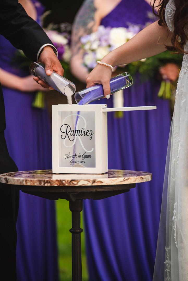 unity sand wedding ceremony - ct wedding photos