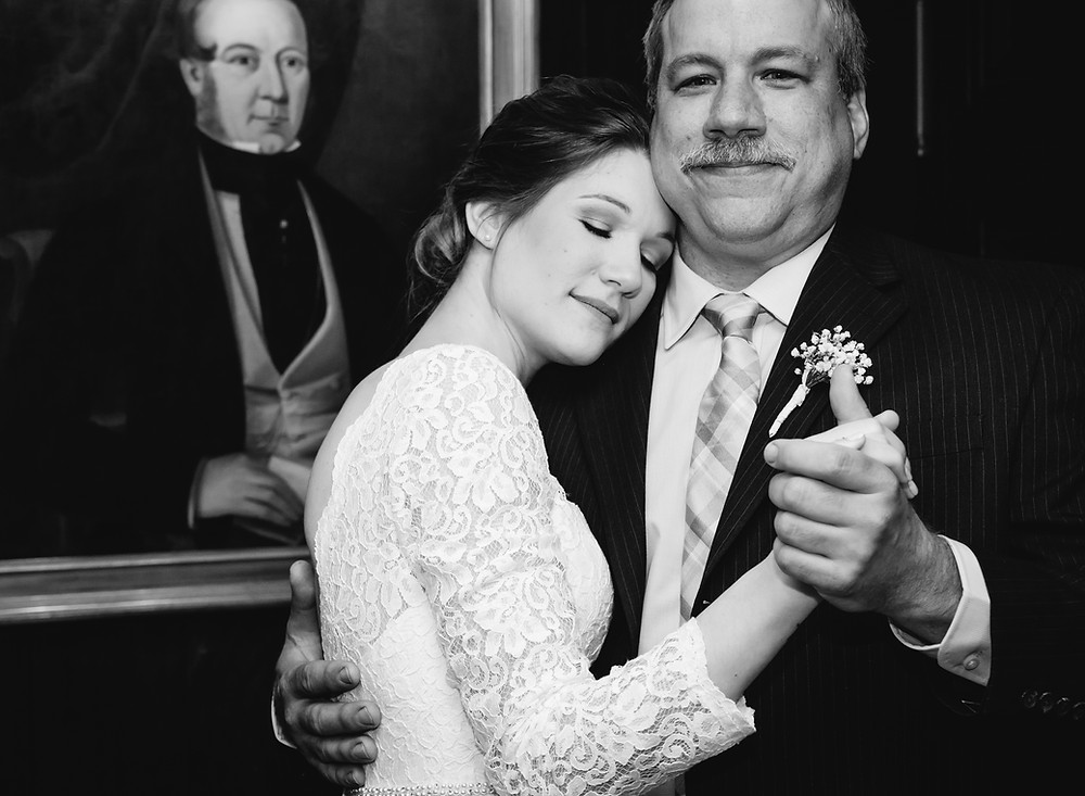 bride dancing with father | ct wedding photography
