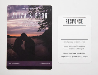 basic invite wedding invitation and response card