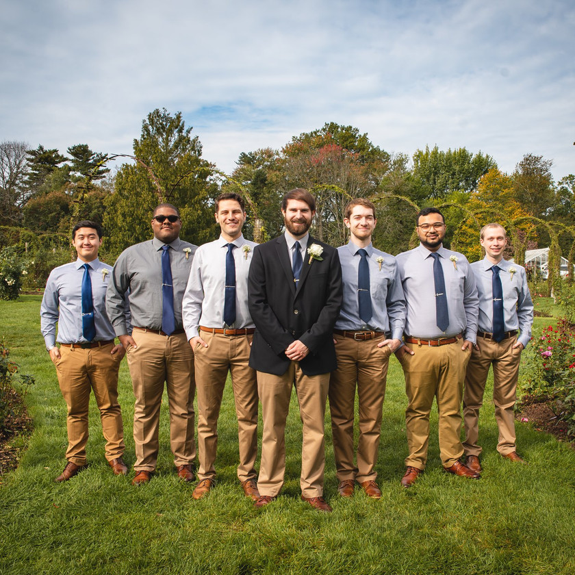 Groomsmen photo at Elizabeth Park Wedding in Hartford CT