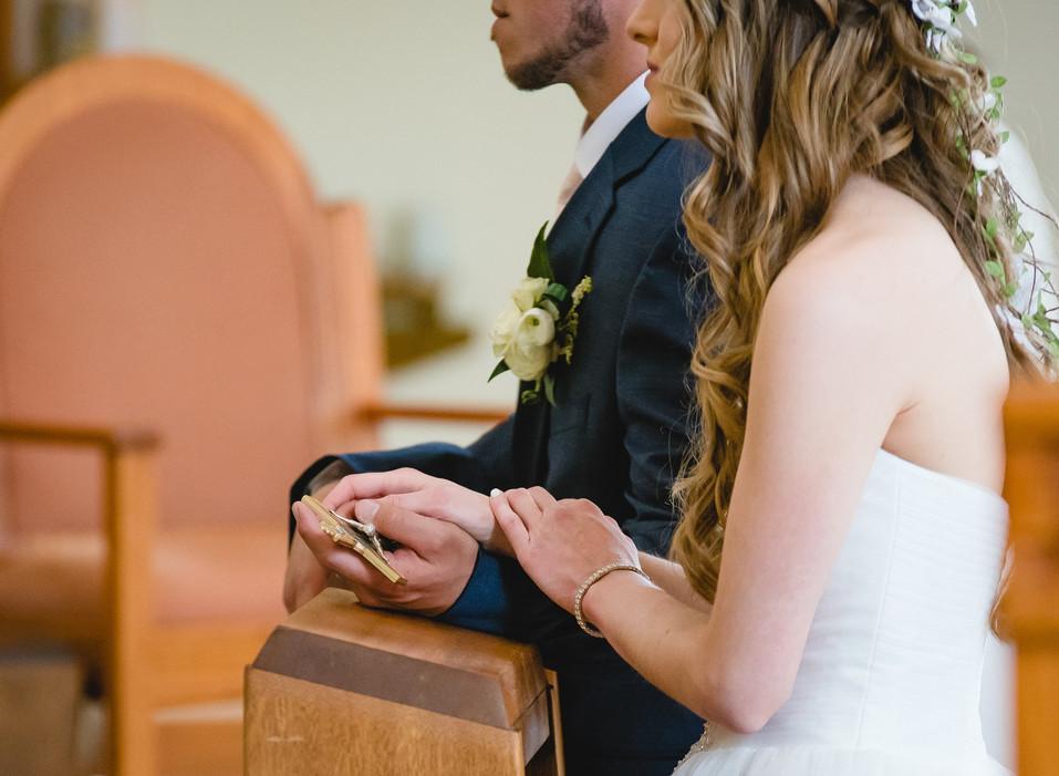 Catholic wedding ceremony photo