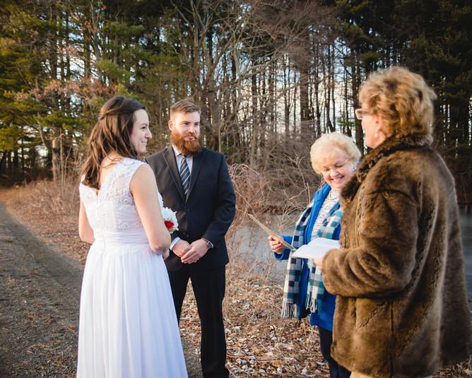 New England elopement ceremony