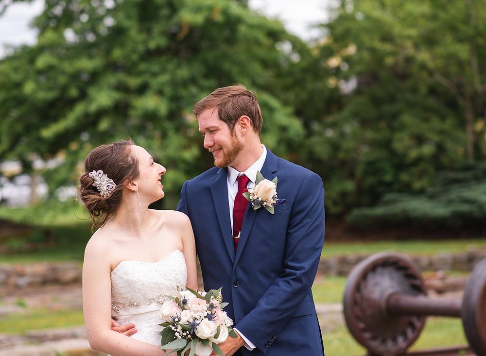 Saybrook Point Inn Wedding portrait of the bride and groom from CT Wedding Photographer Emma Thurgood