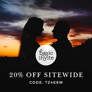 Wondering where to print wedding invitations at Basic Invite with this discount code
